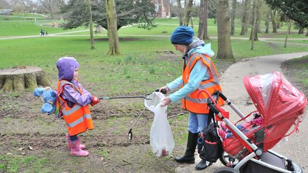 More than five bags of rubbish were collected across the two hours in Christchurch Park Ipswich and