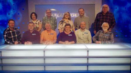 The Eggheads along with the Shotley Open Spacers (front row), who beat them by answering every quest