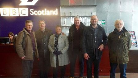 The team, all from the Shotley peninsula in Suffolk, went to Edinburgh to film their episode of Eggh