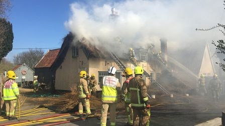 Suffolk Fire were called to the blaze on Tuesday morning Picture: SOPHIE BARNETT