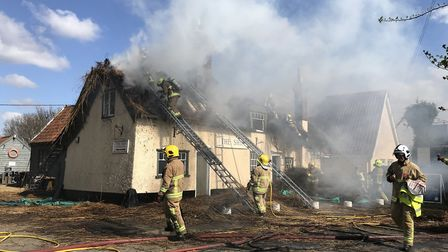Suffolk Fire were called to the blaze on Tuesday morning Picture: SARAH LUCY BROWN