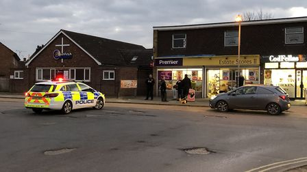 Police were at the scene of the incident in Greenfinch Avenue, Ipswich, for over three hours Picture