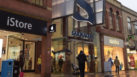 The incidents happened at Sailmakers shopping centre, in Ipswich, last October Picture: SARAH LUCY