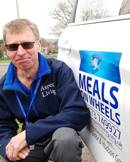Simon Cockayne, a volunteer driver from Meals on Wheels. Picture: RACHEL EDGE