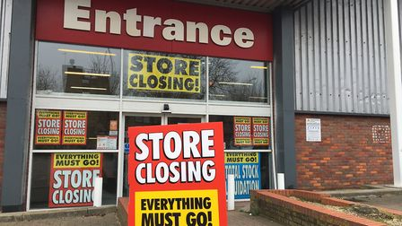 Office Outlet's Ipwsich branch is closing down. Photo: James Carr.