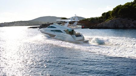 The luxury Squadron 65, by Fairline Yachts, on the water Picture: FAIRLINE YACHTS