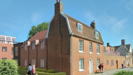 The former site Babergh District Council�s will be transformed into 57 new homes. Photo: BDC.