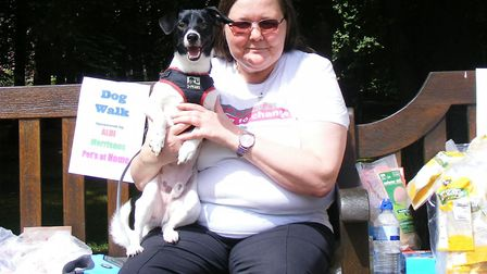 Paula Macintosh with Jack Russell/poodle cross Rocky. Bought three years ago, as a puppy, he became