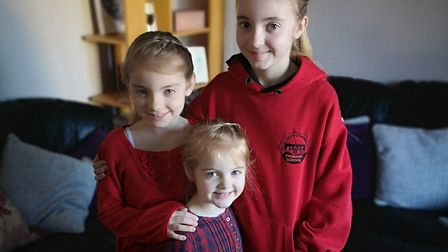 Children at schools in Hadleigh have been wearing red to raise money for little Roo Picture: Contrib