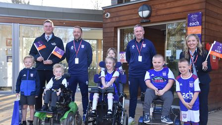 Ipswich Town manager Paul Lambert visits The Treehouse hospice in Ipswich. Picture: IPSWICH TOWN FOO