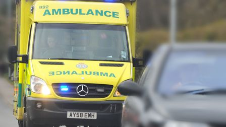 One person was taken to hospital following the crash Picture: SIMON FINLAY
