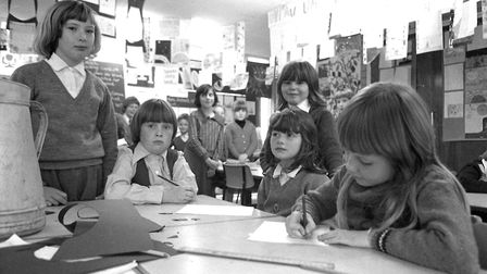 Can you add any names to these class pictures taken in 1977 at Downing Primary School, Ipswich? Pic