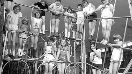 Happy young faces in the gymnasium at Downing Primary School, Ipswich, in 1977. Were you there? Pic