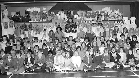 The cast of the Christmas play at Sprites Primary School, Ipswich, in December 1976 Picture: OWEN H