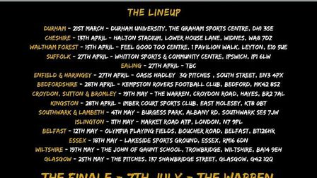 KickOff@3 will take place at Whitton Sports and Community Centre on April 27