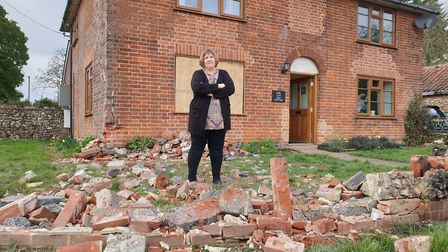 Nicola Stanmore said if it wasn't for the reinforced wall, the bus would have smashed straight thoru