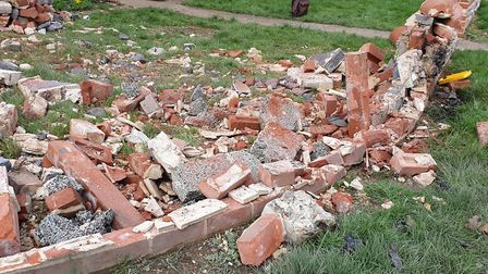 The vehicles crashed through a reinforced wall the family had built after a similar crash a year bef