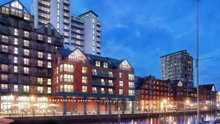 The first flats to be sold are at the front of the Winerack over the Waterfront pavement. Picture: W