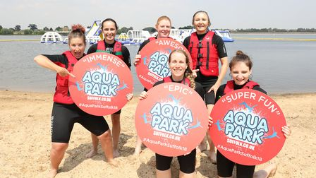 Some groups managed to enjoy a splash at Aqua Park Suffolk in 2018, but owners and Anglian Water hop