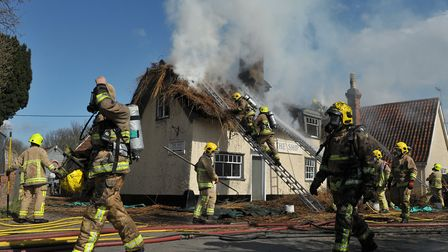 Fire investigations are now focusing on the chimney and woodburner Picture: SARAH LUCY BROWN