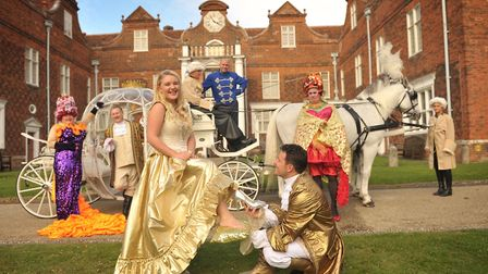 Cinderella is returning to the Ipswich Regent this Christmas. A previous cast getting the feel of pa