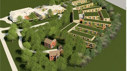 An artist's impression of how the new 'care village' at Westerfield House, in Humber Doucy Lane, Ips
