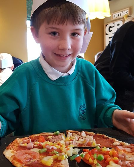 Pupils from Ravenswood Community Primary School made their own pizza using healthy ingredients at Th