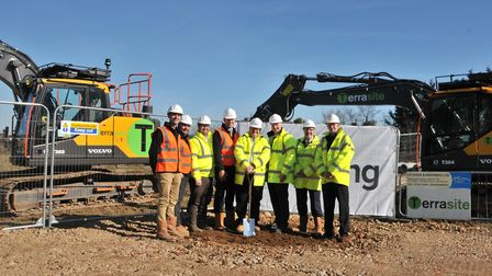 Work begins at the former Took's Bakery site in Ipswich where 60 new homes and a GP 'super-surgery'