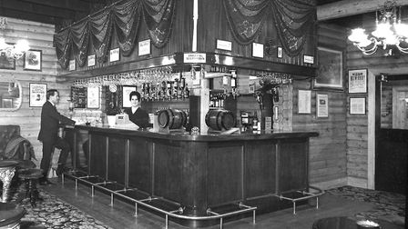 The newly completed nightclub at the Running Buck Inn, Ipswich, in January 1966 Pictures: IAN MCGRA