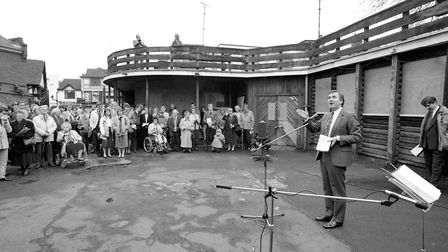 A dedication service in April 1993 when the neighbouring Bethesda Church, Ipswich, took over the sit