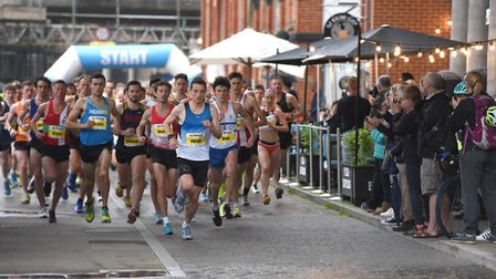 Start of the Elite 5K. Picture: SARAH LUCY BROWN