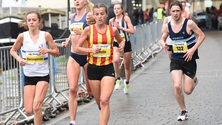Runners braved the rain for the elite 5K in 2018 Picture: SARAH LUCY BROWN