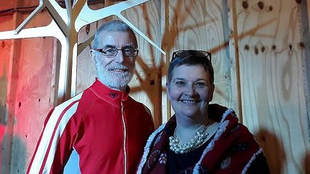 Cliff Matthews and his wife Anna, pictured during 2018. Picture: Lizzy Matthews