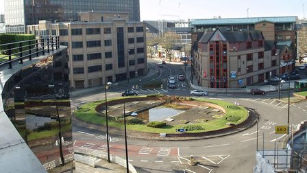The old Princes Street roundabout in Ipswich before changes made in 2012 Picture: ARCHANT