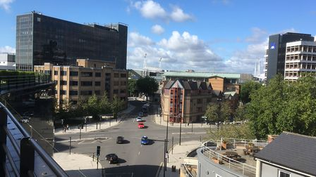 The Civic Drive junction from the top of the Willis building. Picture: PAUL GEATER