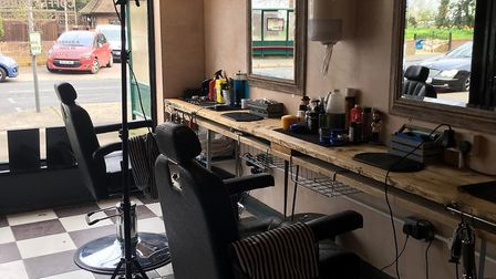 The barbers is at the front of the store and the coffee shop in the back Picture: COFFEE BARBER