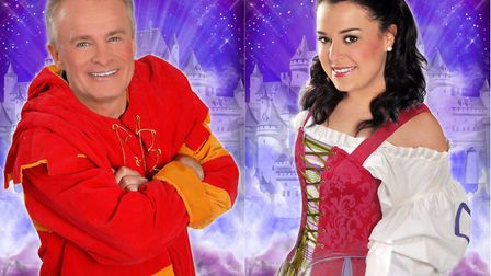 Bobby Davro and Dani Harmer are among the stars of The Ipswich Regent Easter pantomime. Picture: PAU