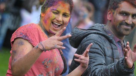 Crowds of people enjoyed themselves at the Holi Festival Picture: SARAH LUCY BROWN