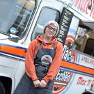 Gemma Starie with her Mac and Cheese van Picture: SARAH LUCY BROWN