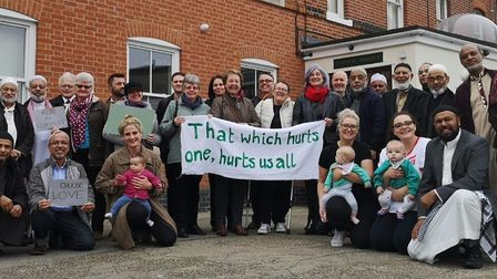 Ipswich Quakers and other members of the community visited Ipswich Mosque after the terrorist killin