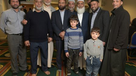 Members of Ipswich Mosque with some of their visitors to a recent open day Picture: SARAH LUCY BROWN