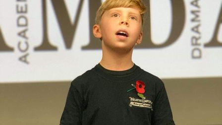 Nine-year-old Bruce Stacey is set to play Banquo's son in the English Touring Opera's Macbeth at Sna