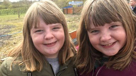 Twins Juliette and Alexandra, age nine, attended sessions at the speech and language hub in Ipswich.