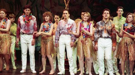 Aloha! The gang's all hear for a night of entertainment in 1989 Picture: JOHN KERR