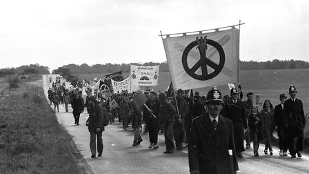 Police attend the CND march to keep the peace Picture: OWEN HINES
