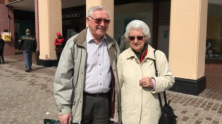 Eric and Betty Miller of Capel St Mary give offers their thoughts on Debenhams going into administra