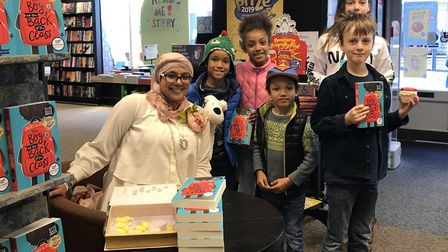 Onjali Rauf met fans of her award-winning book 'Boy at the Back of the Class'. Picture: SOPHIE BARNE