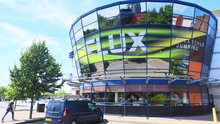Opening day at Flux Freestyle trampoline centre, Cardinal park, Ipswich.