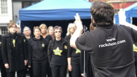 The Rock Choir, one of the highlights of the fun day. Picture: VICTORIA PERTUSA