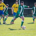 Jamie Cole pulls one back for Whitton United from the penalty spot Photo: HANNAH PARNELL